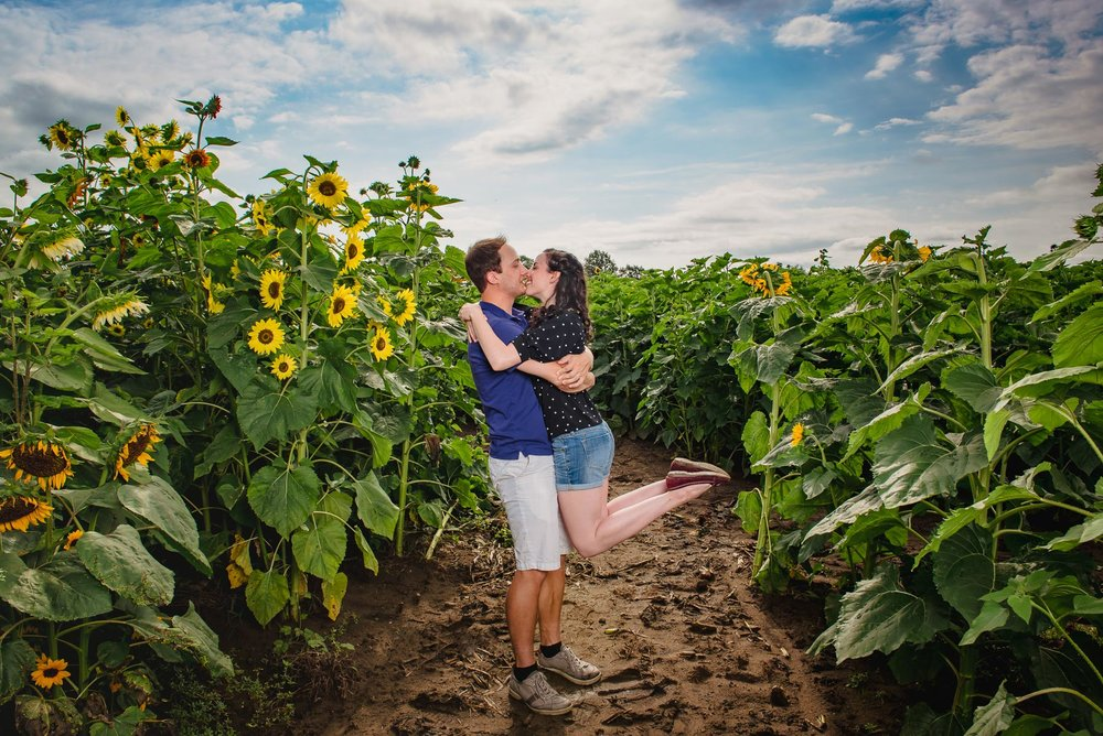 Sunflower farm engagement shoot _ Johnson's Locust Hall Farm _ Jobstown NJ-6.jpg