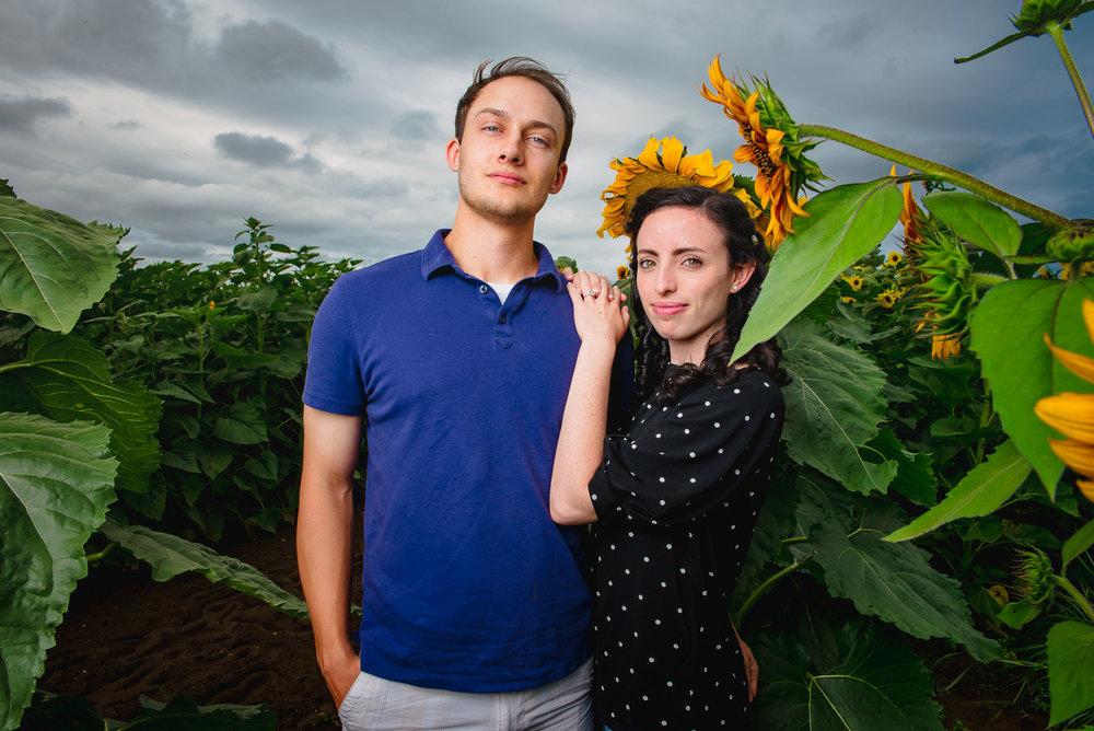Sunflower farm engagement shoot _ Johnson's Locust Hall Farm _ Jobstown NJ-11.jpg