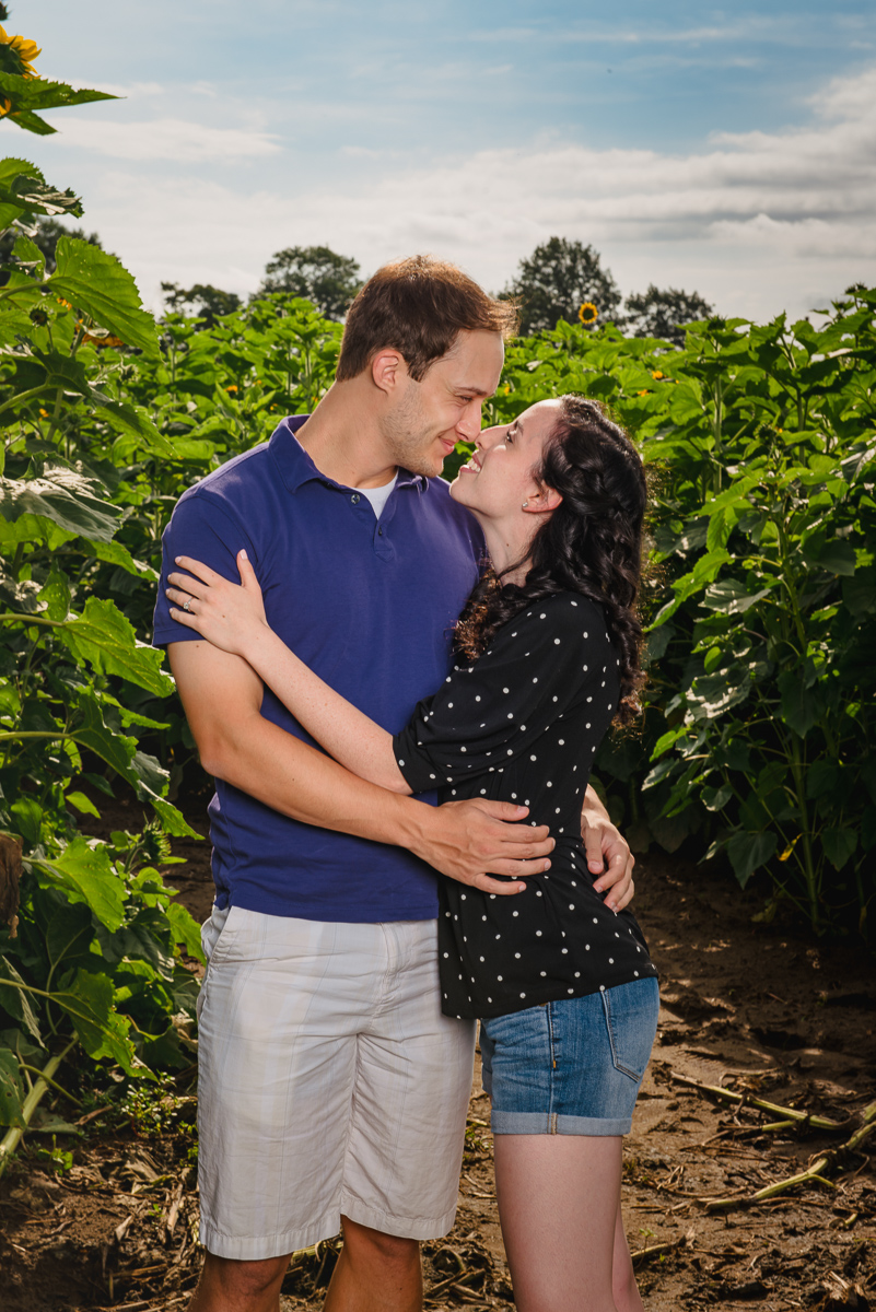 Sunflower farm engagement shoot _ Johnson's Locust Hall Farm _ Jobstown NJ-28.jpg