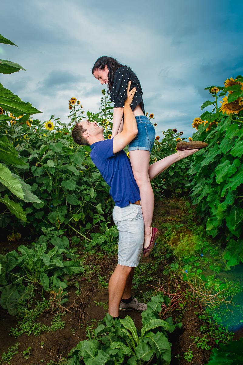 Sunflower farm engagement shoot _ Johnson's Locust Hall Farm _ Jobstown NJ-32.jpg