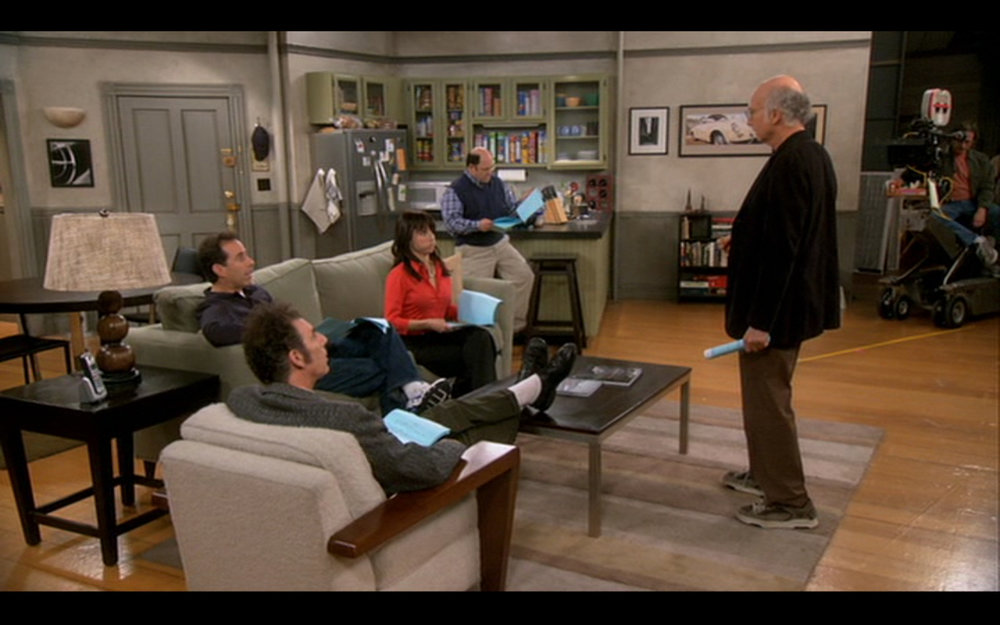 Figure 1: Larry (mis)directs the  Seinfeld  cast.
