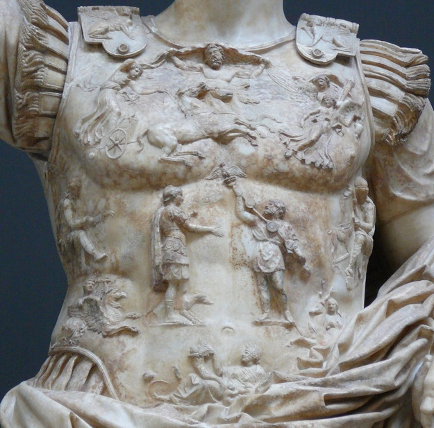 Figure 2: Detail of the Augustus of Prima Porta statue's breastplate.