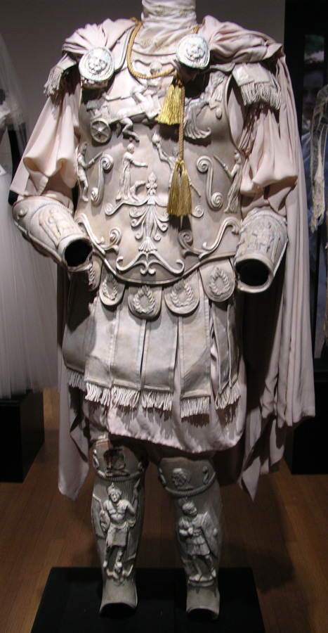 Figure 3: Commodus' white armor on display.