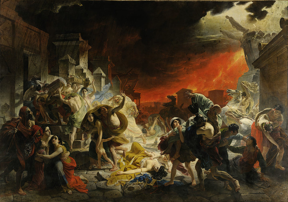 "Figure 2: Bryullov's ""The Last Day of Pompeii"". None of the Christian-versus-pagan overtones so typical of Pompeii's reception in the late 19th and 20th centuries here."