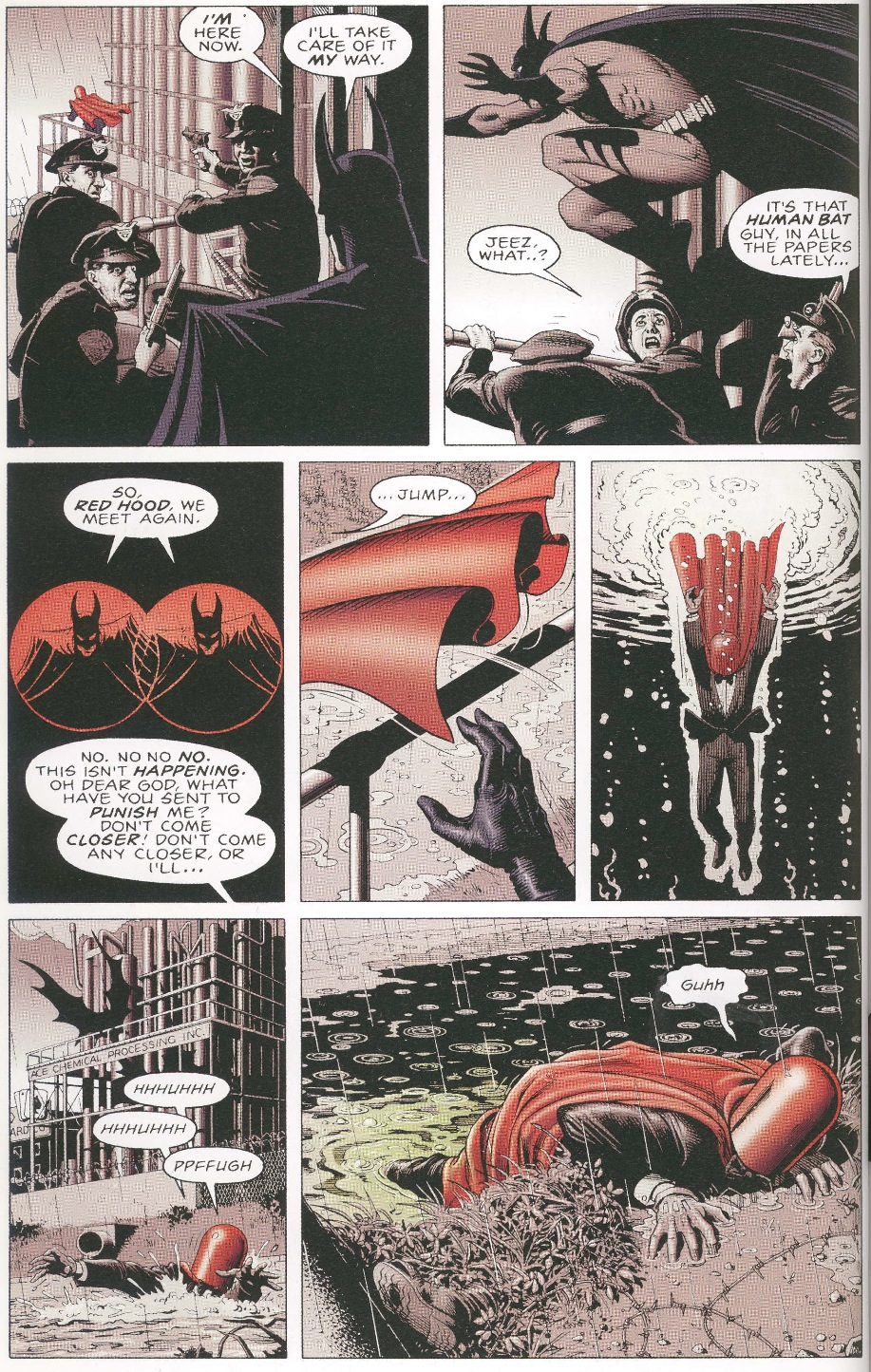 Figure 3: The Red Hood is solely responsible for his transformation in  The Killing Joke .