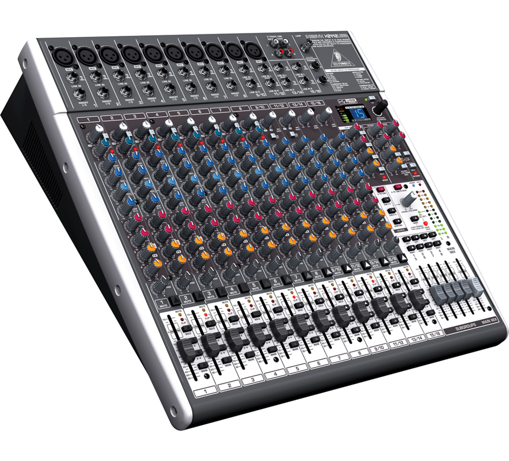 Behringer X2442USB Xenyx Mixer   The Behringer X2442USB mixing console takes the 2442FX up a notch, providing all the same great features, plus Behringer's 24-bit, dual engine FX processor, with 16 editable, studio-grade presets...