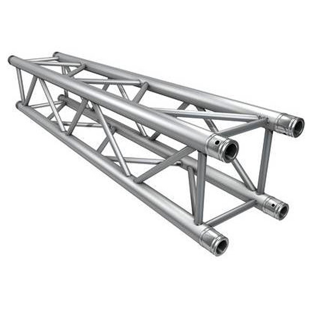 """Global Truss F34 - 12"""" Trussing   Global Truss designs and manufactures professional grade trussing ideal for a wide span of applications ranging anywhere from DJ set-ups, clubs, concert/stage structures, theatrical lighting,..."""