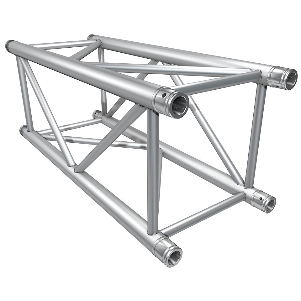 """Global Truss F44 - 16"""" Trussing   Global Truss designs and manufactures professional grade trussing ideal for a wide span of applications ranging anywhere from DJ set-ups, clubs, concert/stage structures, theatrical lighting..."""