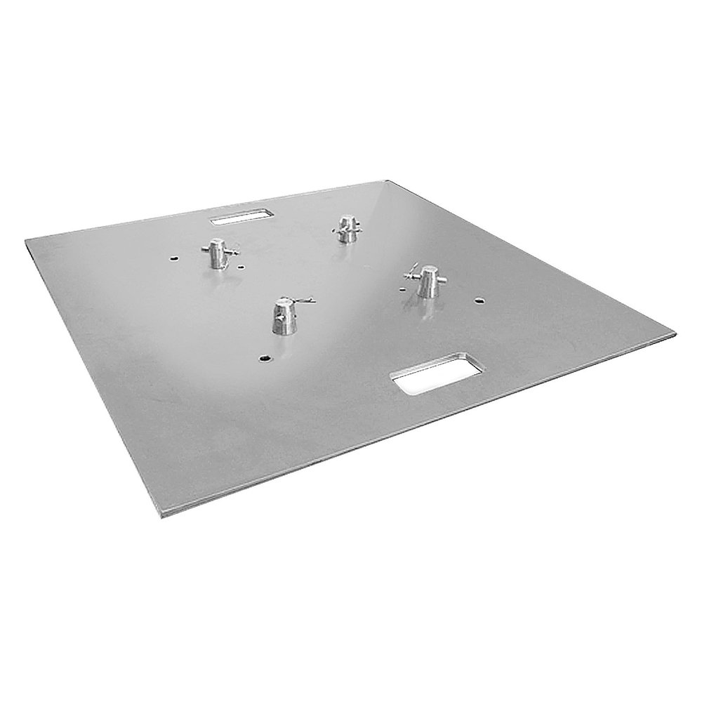 """Global Truss Aluminum Base Plate   This 30""""x30"""" Global Truss baseplate is for use with F24, F32, F33, F34, and F44 trussing. It's aluminum construction adds up to only 35lbs per baseplate."""