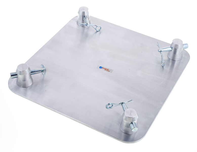 """Global Truss Top Plate   12"""" x 12"""" Aluminum base plate or top plate for a square truss. Unit weight: 4 lbs."""