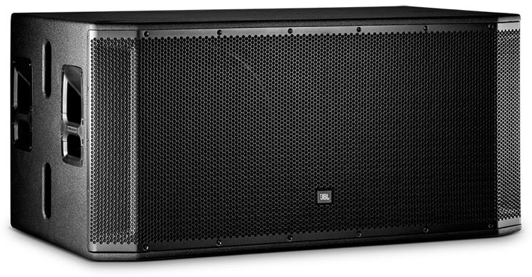"JBL SRX-828 (Passive)   Is a dual 18"" subwoofer for concert, touring, or installed use. Featuring a wide stance for splaying top boxes, indexing feet for stacking in both the standard and cardioid position, and a 141dB max SPL, the SRX828S is an ideal solution for..."