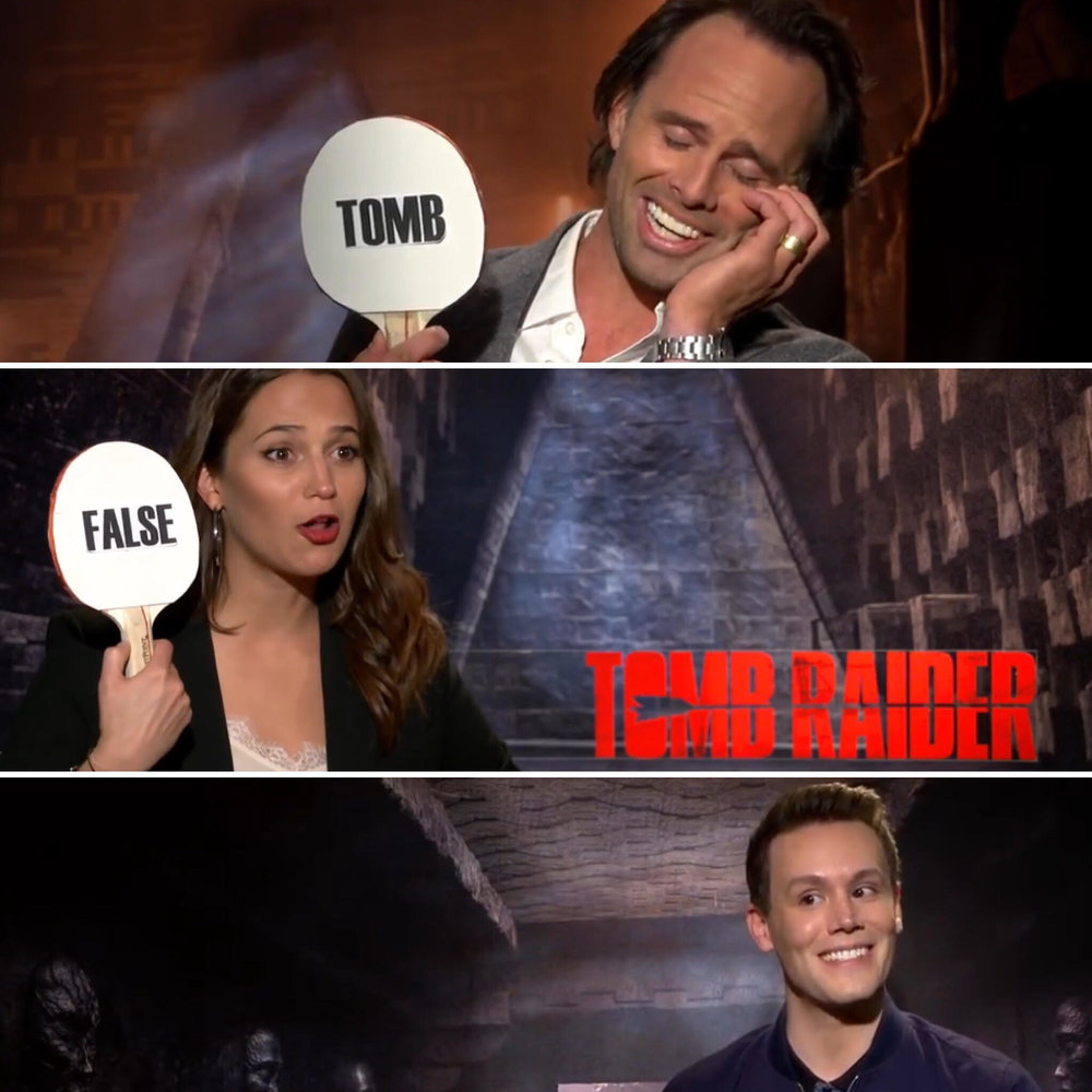 "MATTHEW HOFFMAN INTERVIEWS ALICIA VIKANDER AND WALTON GOGGINS FOR ""TOMB RAIDER"". ""SIT DOWN WITH THE STARS"" IS PROUDLY PRESENTED BY REGAL CINEMAS."