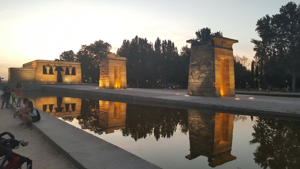 No settings or dslr here...just a Note 4...Temple of Debod : MADRID  .