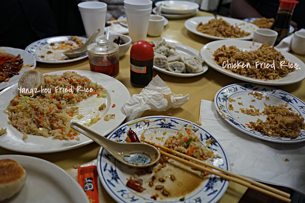 This place has to have some of the best fried rice that I have ever tasted. Disregard the carnage peep the plates of fried rice!