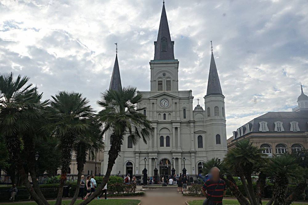 St Louis Cathedral. The oldest cathedral in North America built in 1720.