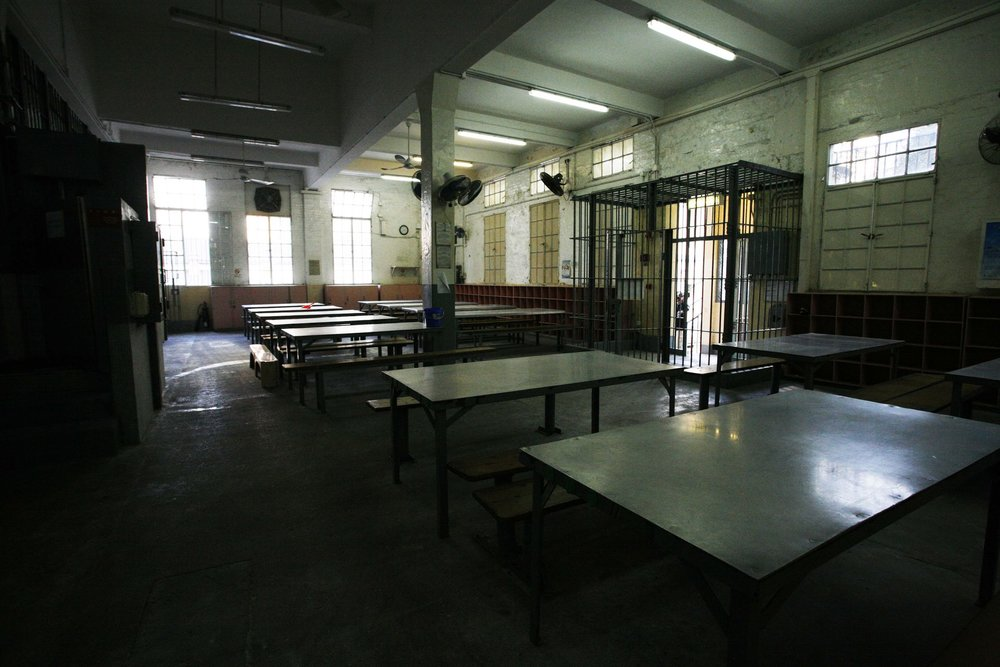 Canteen Tables, old Central Police Station, 2006
