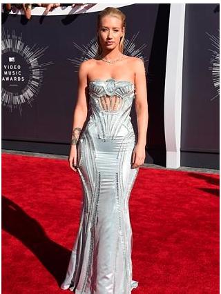 Iggy Azalea 2014 MTV VMA Red Carpet  www.au.eonline.com