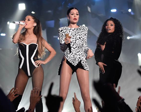 Talk about girl power! Ariana Grande, Jesse J and Nicki Minaj sing their smash hit 'Bang Bang'