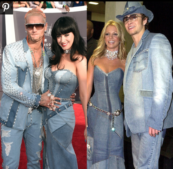 Katy Perry and Riff Raff channeling their inner Britney and Justin in this denimtastic piece!  www.billboard.com
