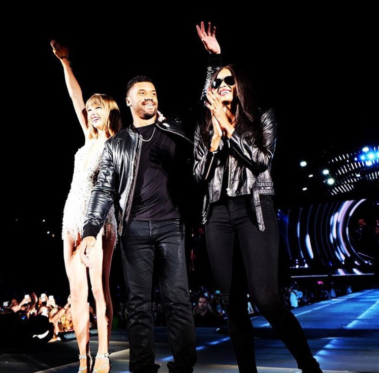 "Taylor Swift performing ""Style"" with Ciara and Russell Wilson - @TaylorSwift"