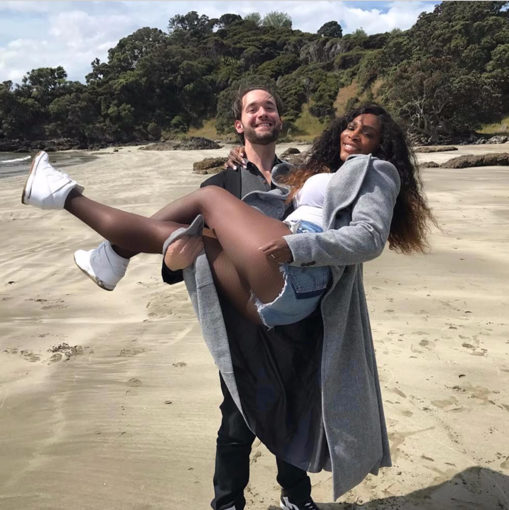 Happy Couple: Serena and fiancé, Alexis, got engaged last December.