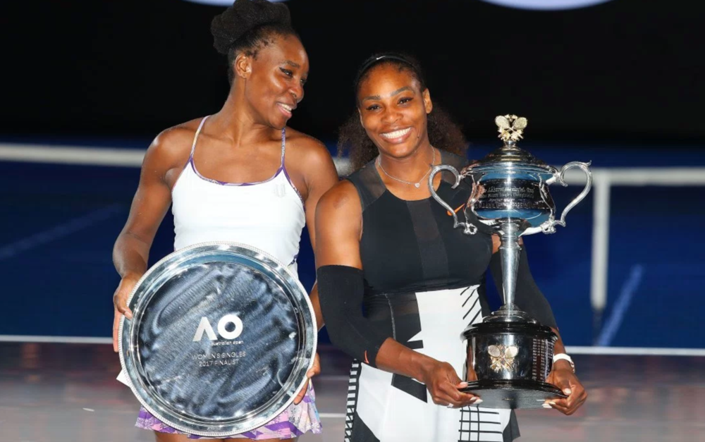 Serena and Venus WIlliams, at the 2017 Australian Open Grand Final.