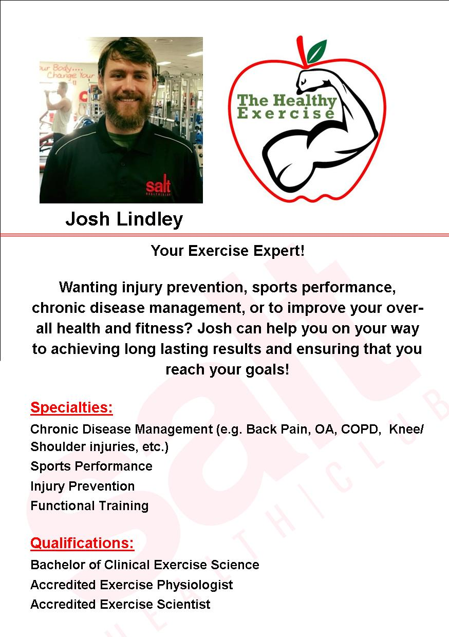 Josh is our resident Exercise Physiologist - Josh offers both Exercise Physiology and Rehabilitation Services along with Personal Training Services. Take advantage of Josh's Exercise Physiology Package which is only $139 ($70 worth of savings!) which includes:3 x 30 Minute Exercise Physiology Sessions Personalized Prehab/Rehab ProgramChronic Disease ManagementStrategies on Injury Management and Prevention Josh also offers a Personal Training Package for only $79 (also an amazing $70 worth of savings!) which includes:3 x 30 Minute Personal Training Sessions Personalized ProgramGoal Setting, Nutrition Advice, Accountability and Time Management SkillsStrategies on Injury Management and PreventionMotivation to get Fit and reach your goals! Jump over to Josh's Facebook Page or Website for more info:www.thehealthyexercise.com.au