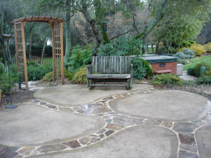 Stamped and Colored Concrete — Kim Day Construction