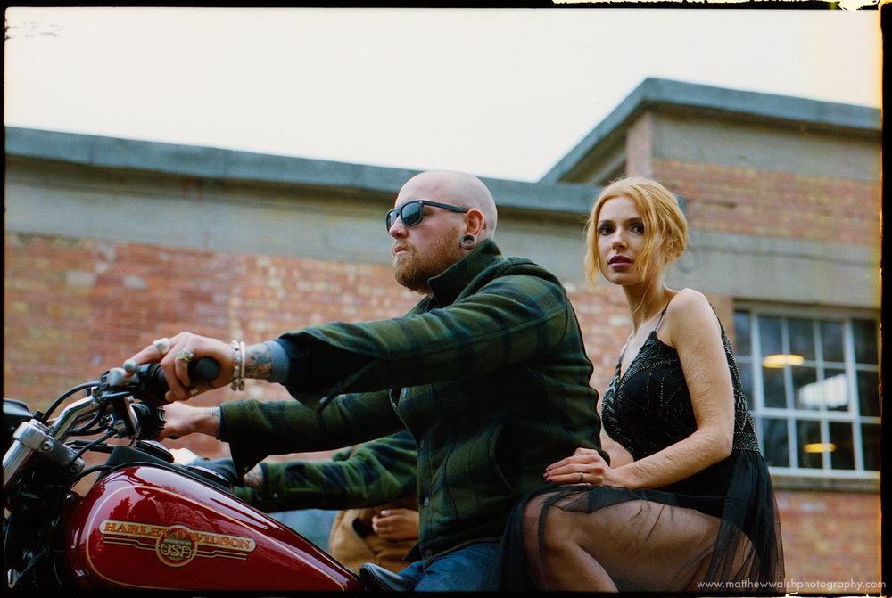 On the motorbikes