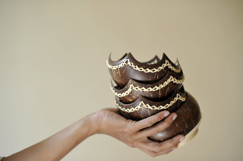 These coconut shell bowls have helped craftsman Nur Taufik build back better after an earthquake devastated his village.