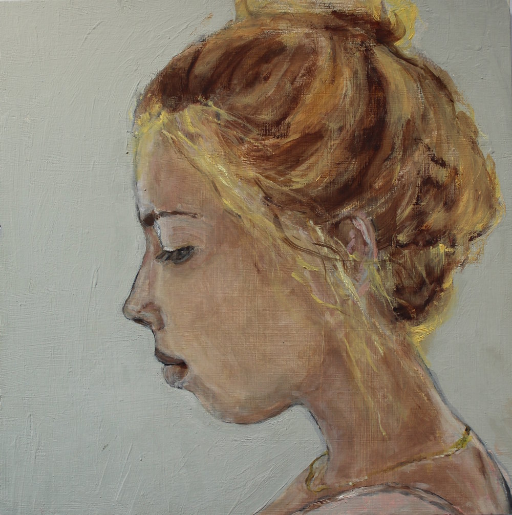 Saskia - Oil on board - NFS