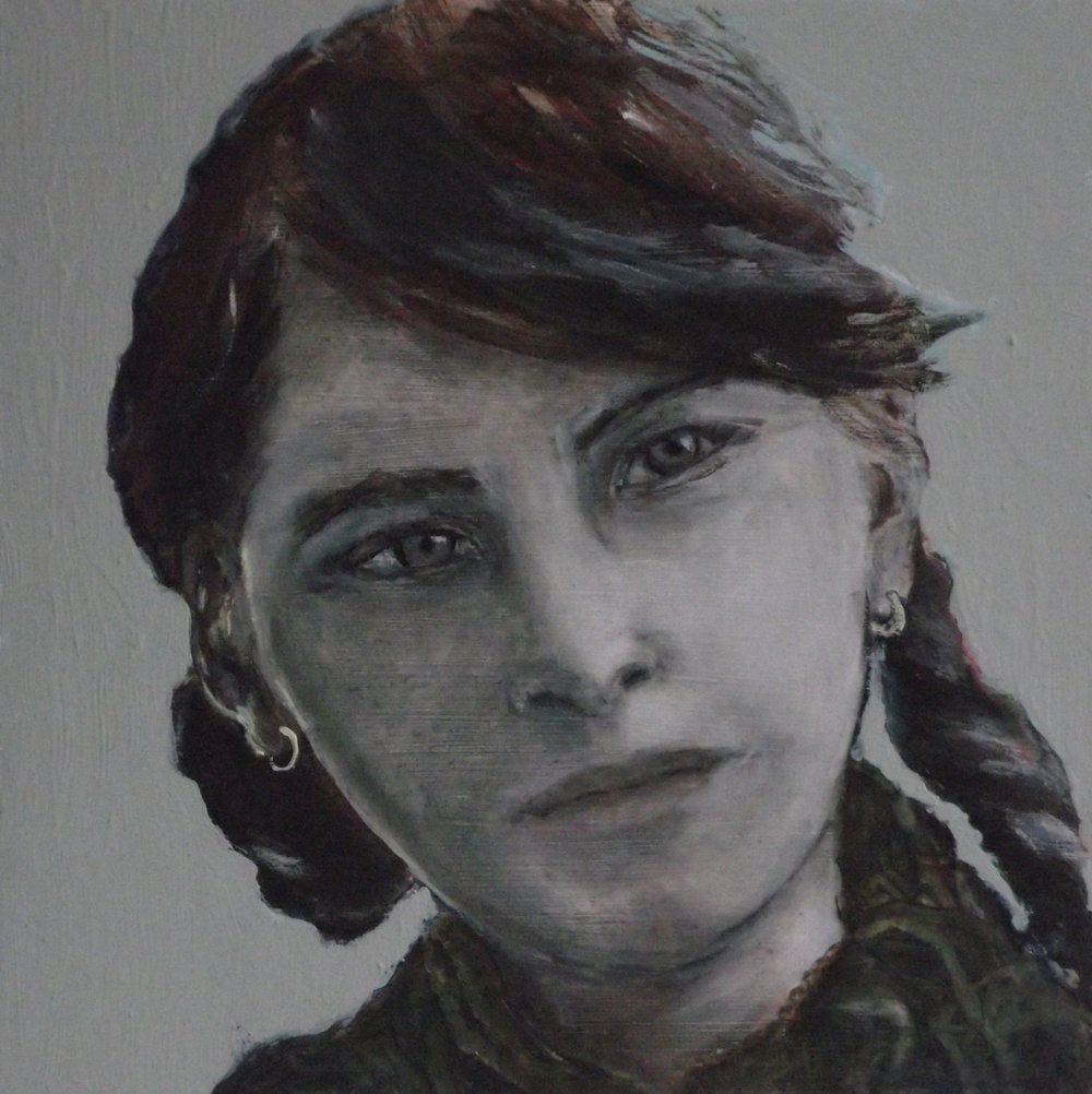Gypsy girl - Oil on board - Clare Hall Art Collection, University of Cambridge