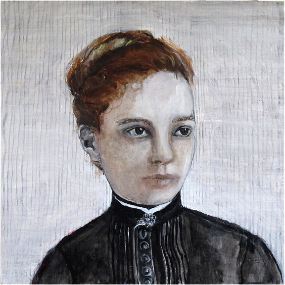 Tentative girl - Oil on board - Sold