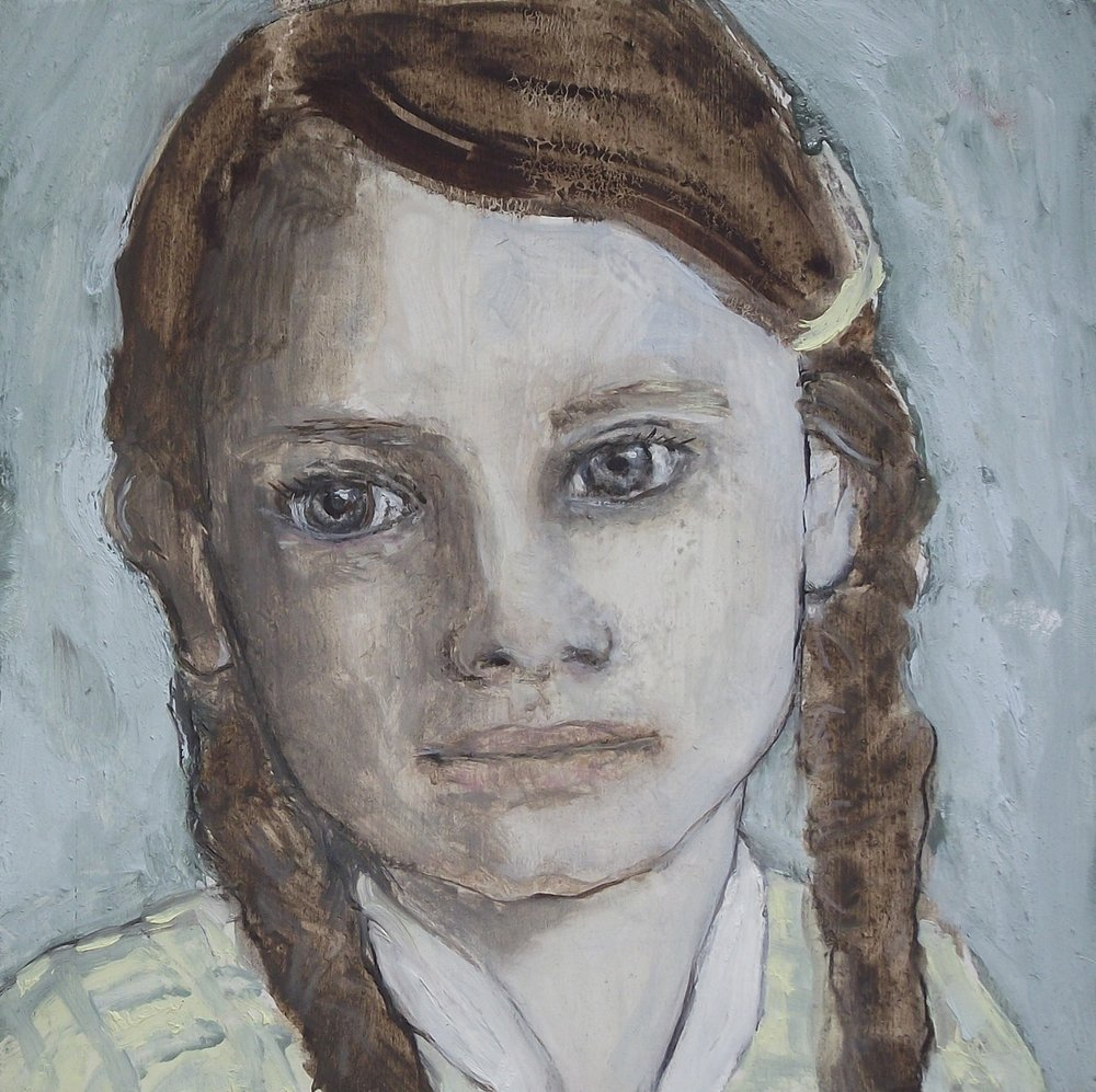 English girl - Oil on board