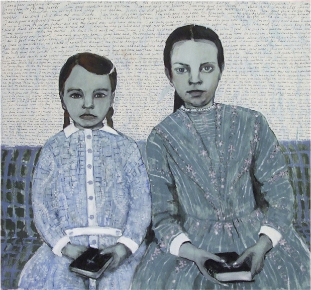 Girls with bibles - Oil on canvas - Sold