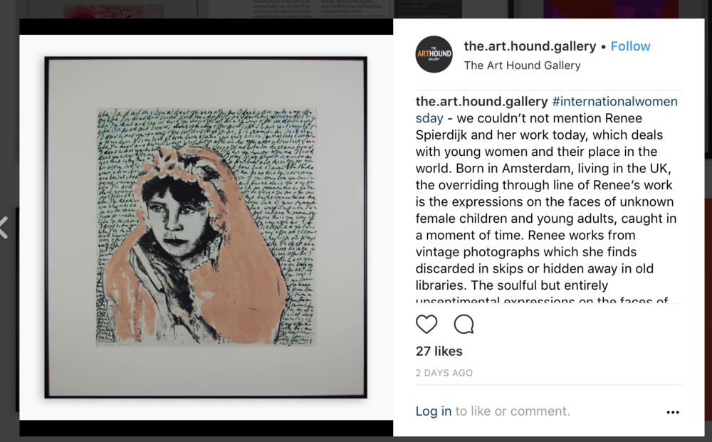 Thank you to The Art Hound Gallery for mentioning my work on International Women's Day!