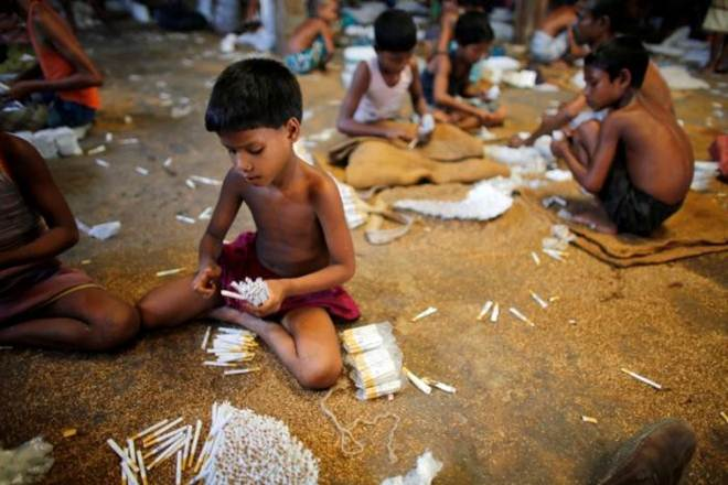 60 per cent of all child labour in the age group five to 17 years work in agriculture, including farming, fishing, aquaculture, forestry, and livestock.(Reuters)