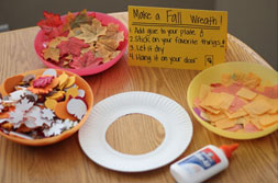 image of fall wreath materials