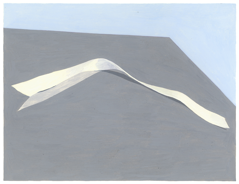 Ribbon , 2014, gouache on Arches paper, 6 x 8 in.