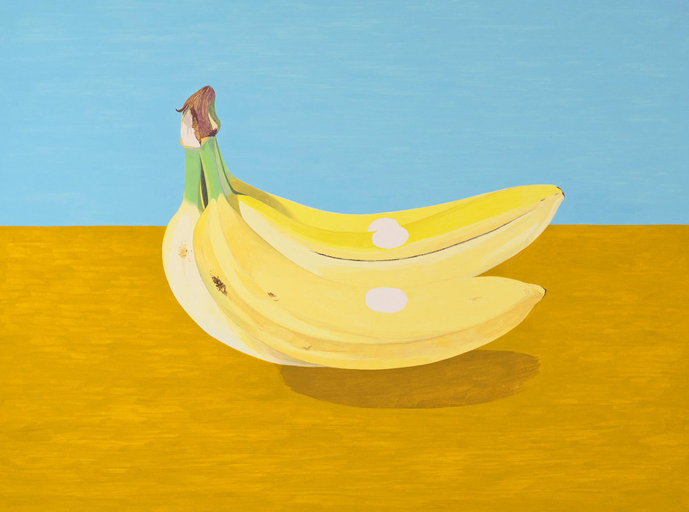New Bananas , 2016, gouache on Arches paper, 12 x 16 in.