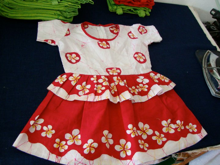 Sample for our Uniform for the Frangipani school - we have designed it with the Frangipani flower!