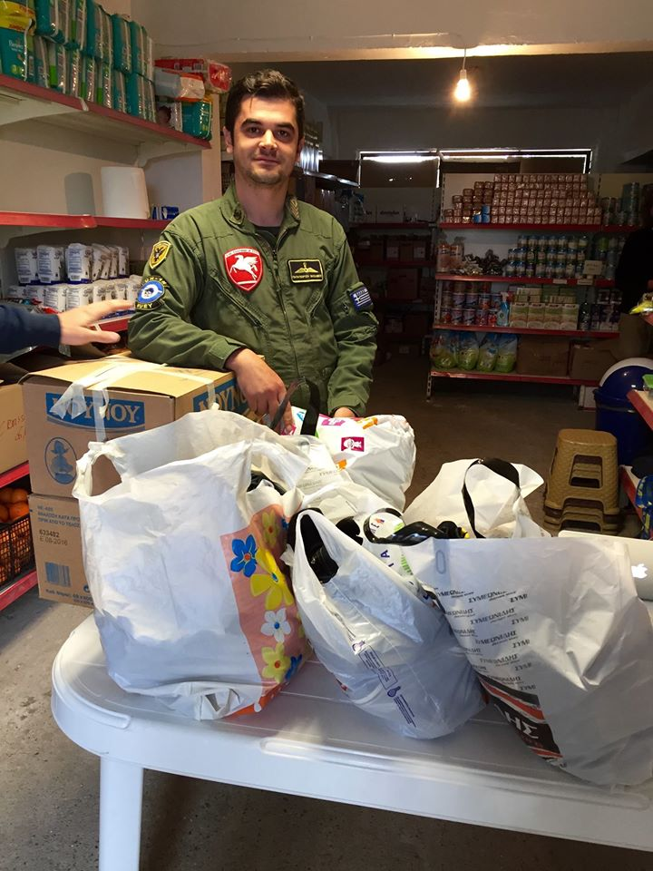 generous donations from the men in the army from their families