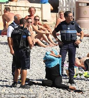 of abuse directed at women wearing burkinis in the sea