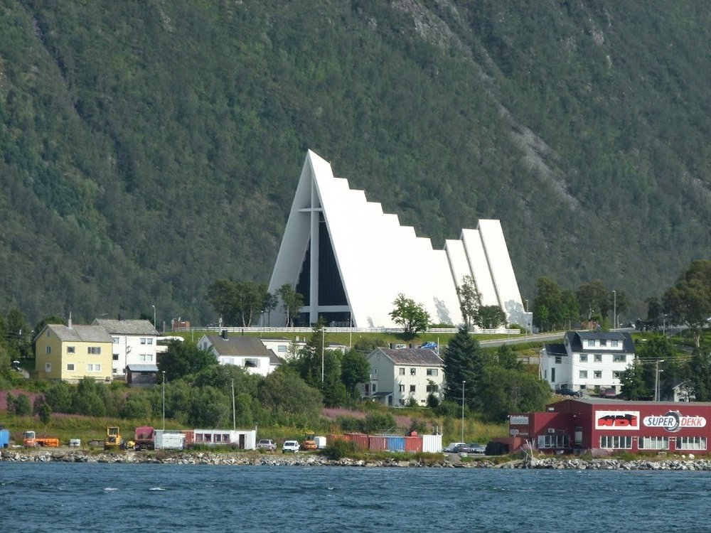 Arctic Cathedral in the summer