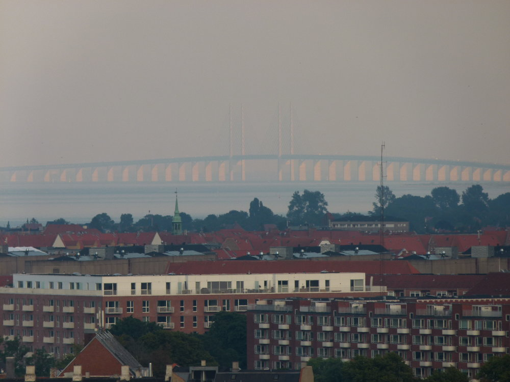 Öresundsbridge connecting Denmark and Sweden