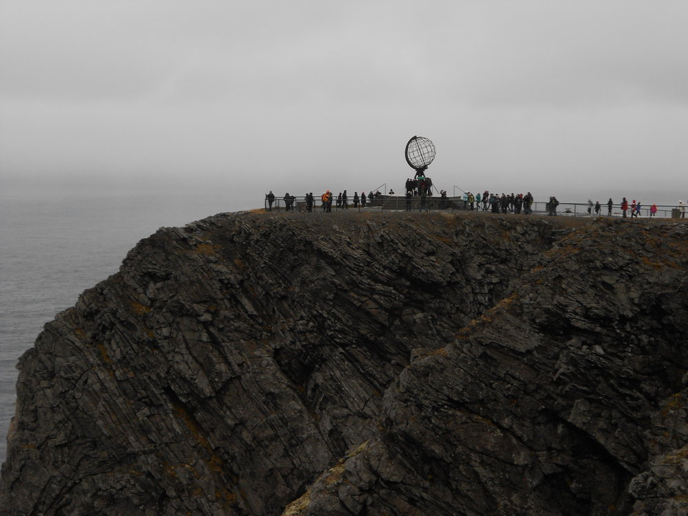 The North Cape on a gloomy autumn day