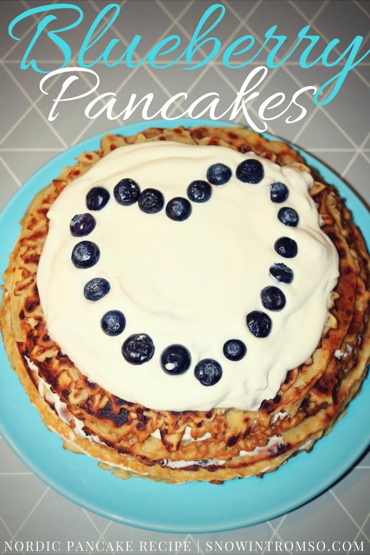 Recipe for Nordic Blueberry Pancake Cake
