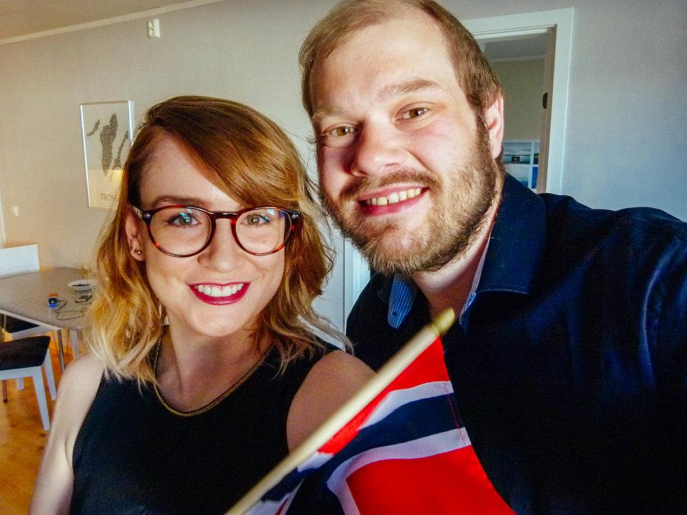 the mandatory flag selfie