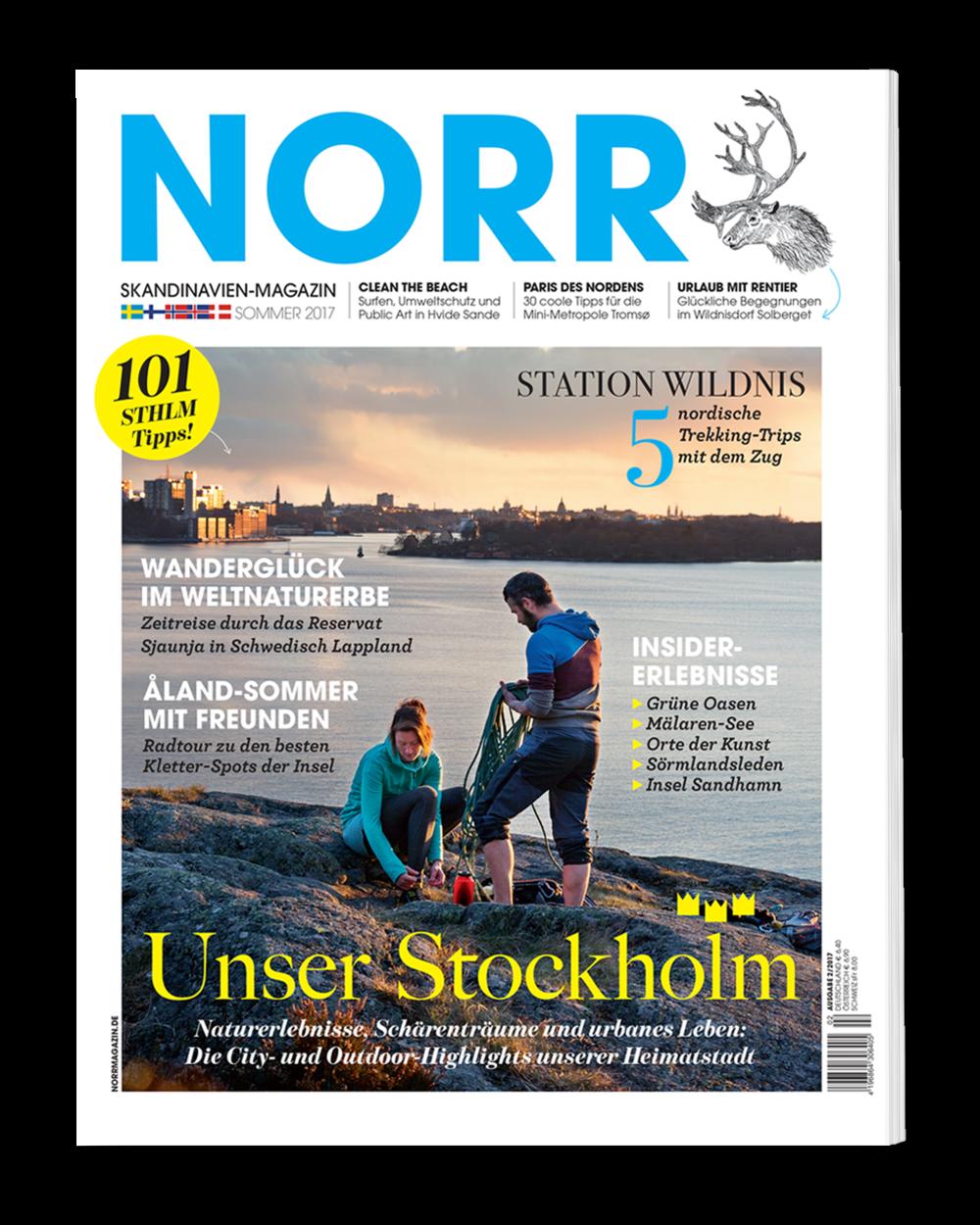 Wollt Ihr mehr über Stockholm oder Tromso lesen? Dann ist die neue Ausgabe des NORR Magazins genau das Richtige!