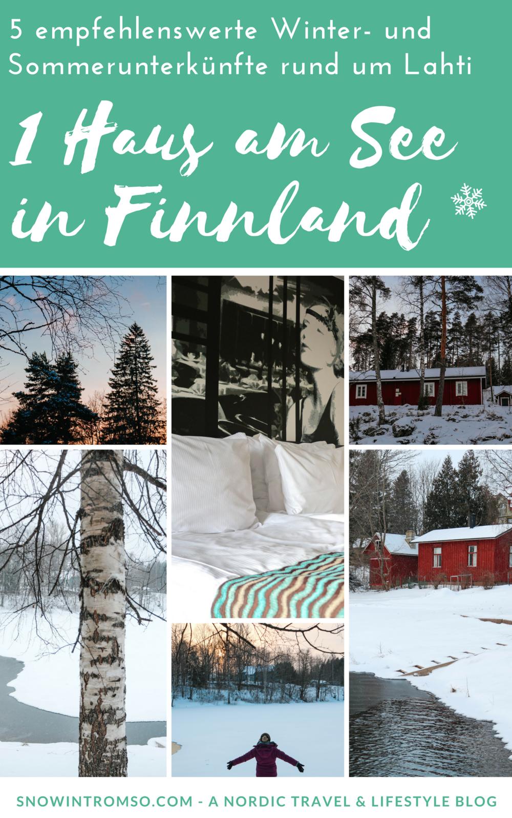 Zieht es dich im Sommer in ein Haus am See in Finnland? Hier sind 5 Unterkünfte in der Lahti Region, die dir sicher gefallen!